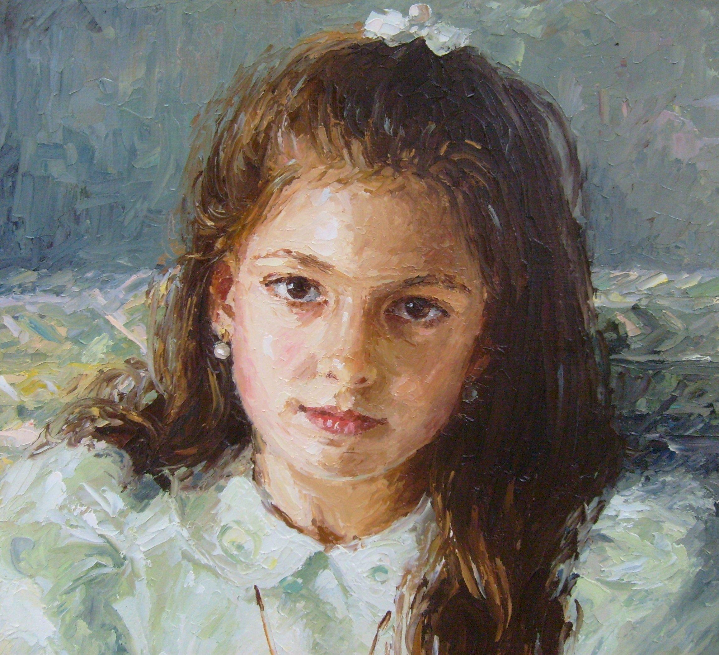 Barbara JAŚKIEWICZ, Malarstwo sztalugowe, obrazy olejne malowane szpachlą, pejzaże i ogrody, weduty, kwiaty, portrety i postacie, obrazy marynistyczne, ... - 7a_zoom